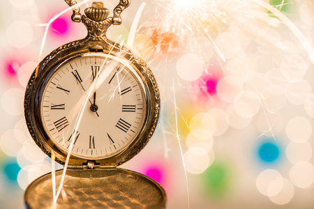 Antique clock shows new year is come