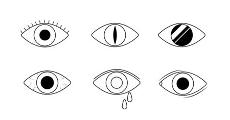 Eye icons. Human eyes, vision and view signs. Illustration