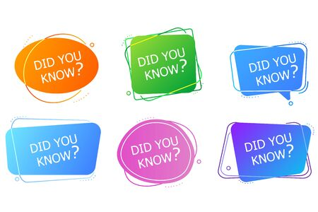 Did You Know Label banner sticker with speech bubble.
