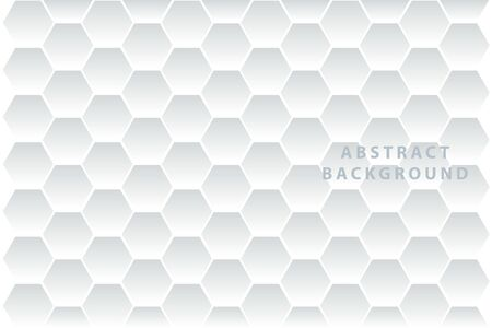 Abstract. Embossed Hexagon , honeycomb white Background ,light and shadow.