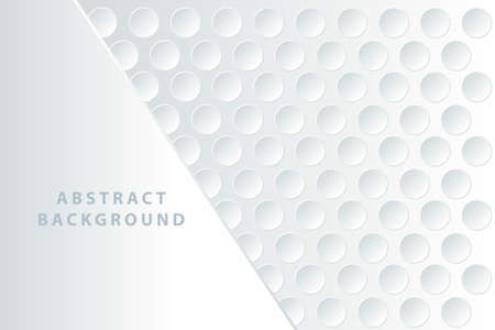 Abstract white background with 3D circles. Design element.
