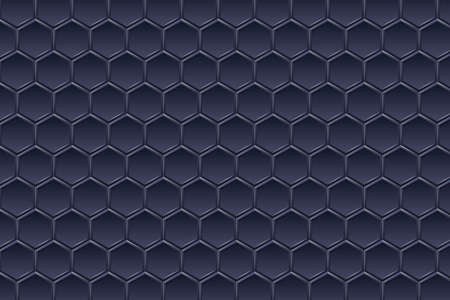 Futuristic perspective hexagon wide angle landscape. Perfect for banner, web, headline, cover, billboard, brochure. Vector illustration