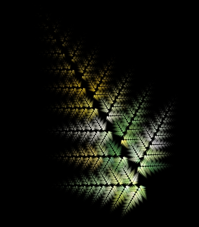 outumn: Fractal - colours of outumn on a black background Stock Photo