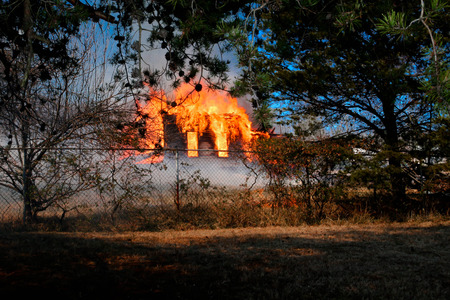 smoldering: House on fire