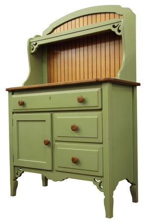 home furniture: Country Style Cupboard in Painted Sage Finish
