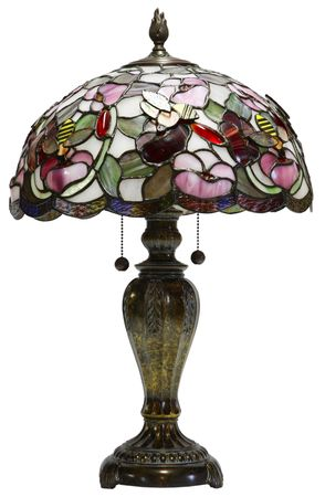 lamp shade: Tiffany Glass Table Lamp with Bumble Bee Accents