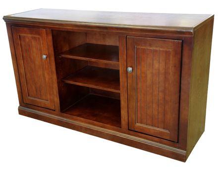 Dark Cherry High Definition TV Storage Cabinet Stock Photo