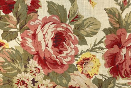 Traditional Floral and Cloth Fabric Background Pattern Stock Photo