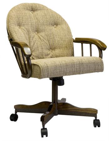 casters: Tilt Swivel Metal Dinette Chair