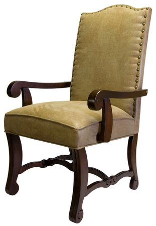 home accent: Traditional  Style Accent Chair in Cherry Wood Trim