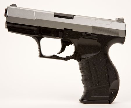 Semi Automatic Hand Gun Stock Photo