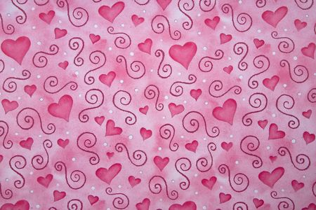 Pink  Hearts Valentine's Day Themed Wallpaper Background Stock Photo