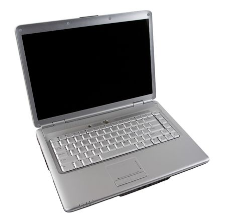 Wireless Silver Notebook Computer  with Blank Screen
