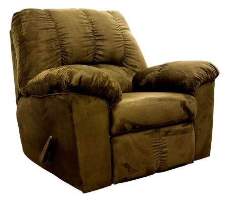 recliner: Big Man's Brown Micro Fiber  Rocker Recliner