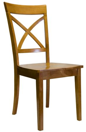 transitional: Maple X Back Dining Room Side Chair