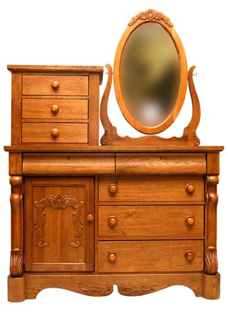 Solid Oak 19th Century Victorian Bedroom Dresser