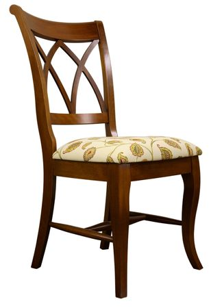Stock Photo   Transitional Style Dining Room Chair In
