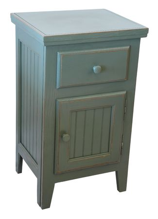 Country Style Night Stand In A Teal Finish photo