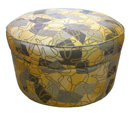 Contemporary Style Ottoman with Modern Fabric Design