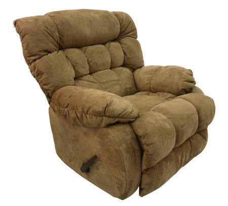 recliner: Big Man�s Brown Micro Fiber  Rocker Recliner