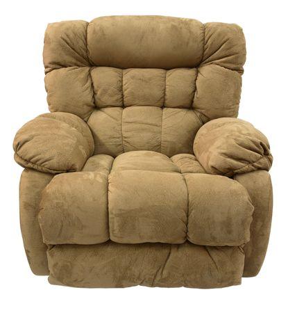 recliner: Big Man's Brown Micro Fiber  Rocker Recliner
