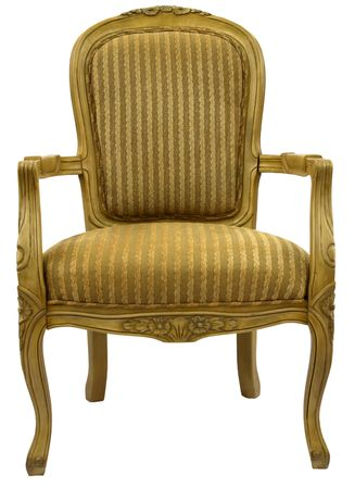 home accent: Traditional Style Accent Chair in Gold Fabric