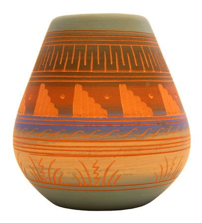 Native American Southwest Pottery Vase in Multiple Colors and Patterns
