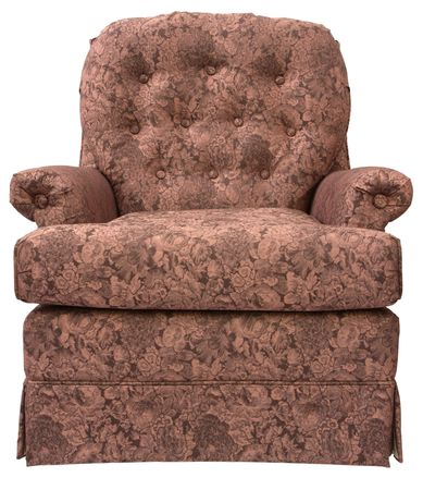 swivel: Traditional Swivel Rocker Accent Chair in Burgundy Fabric Stock Photo