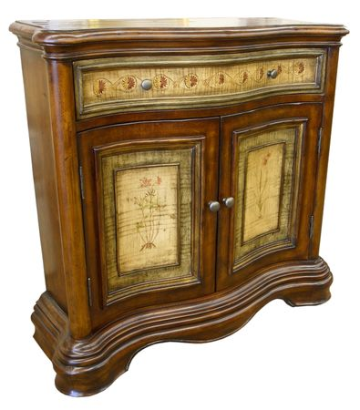 home accents: Antique Hand Painted Sofa Table Console Cabinet