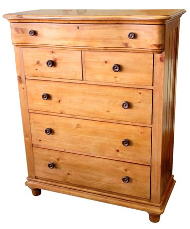 drawers: Country Pine Chest of Drawers in Golden Finish