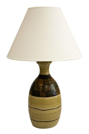lamp shade: Contemporary Table Lamp and Shade in Earth Tone Colors