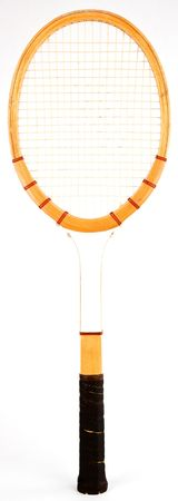grip: Wood Vintage Tennis Racquet with Leather Grip