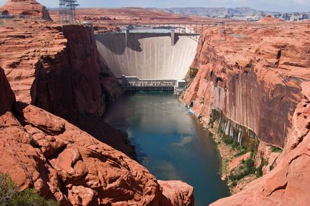 Colorado River and  Glen Canyon Dam