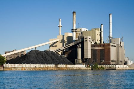 power: Fossil Fuel Coal Burning Electrical Power Plant