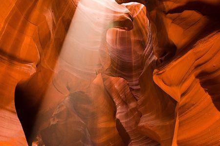 slot canyon: Slot Canyon Sunbeam