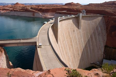 Hydro Power Electric Dam Lake Powell - Glen Canyon Dam