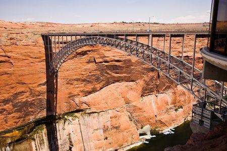 Glen Canyon Bridge  Page, Arizona Stock fotó