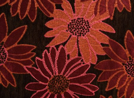 Colorful Floral Cotton Tapestry Fabric Background Pattern