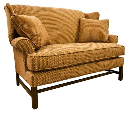 settee: Chippendale Settee Loveseat with Cherry Wood Legs