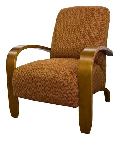 cor: Contemporary Furniture Maple Wood Arm Accent Chair   Stock Photo