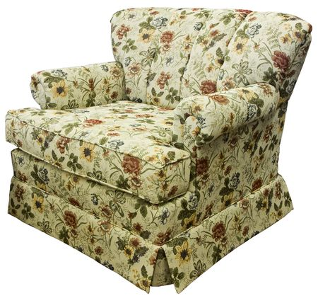cor: Traditional Style Accent Chair In Floral Upholstery Fabric