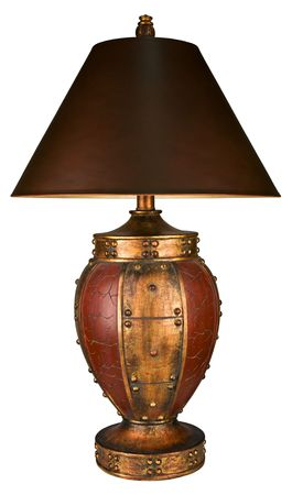 furnishings: Traditional Style Accent Table Lamp and Shade  Stock Photo