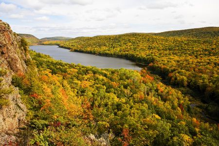 Autumn Color in Michigan Upper PeninsulaLake Of The Clouds Porcupine Mountains Silver City, Michigan