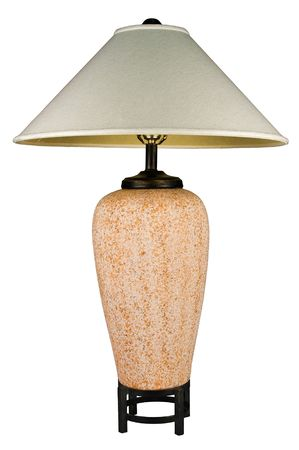 lamp shade: Contemporary Ceramic Rust Colored Table Lamp and Shade