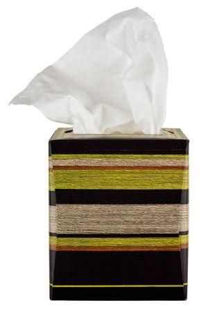 Facial Tissues In Colorful Cardboard Box Dispenser
