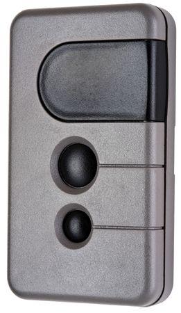 Wireless Remote Garage Door Opener Transmitter in Gray and Black