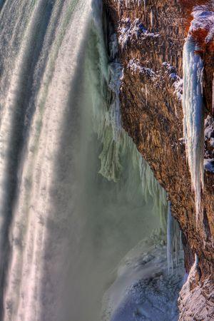 Icy Horseshoe Falls in Winter Niagara Falls, Canada