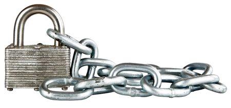 shackle: Laminated Shackle Padlock with Hardened Steel Chain