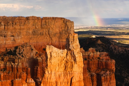 paria: Bryce Canyon National Park Paria View Overlook Rainbow Stock Photo