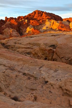 Valley Of Fire Nevada Desert Red Rock Sunrise Stock Photo - 14088847